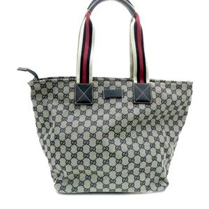 Authentic Jacquard Gucci Blue tote bag